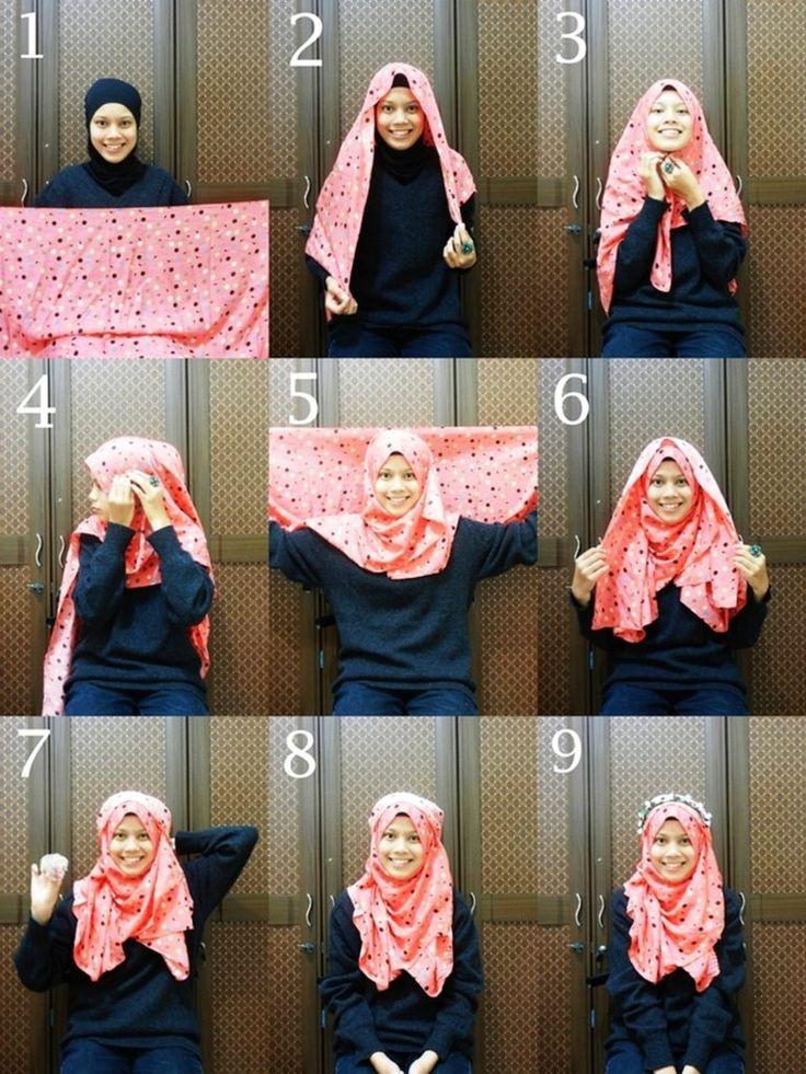 2 Tutorial Hijab Modern Segi Empat Praktis dan Simple