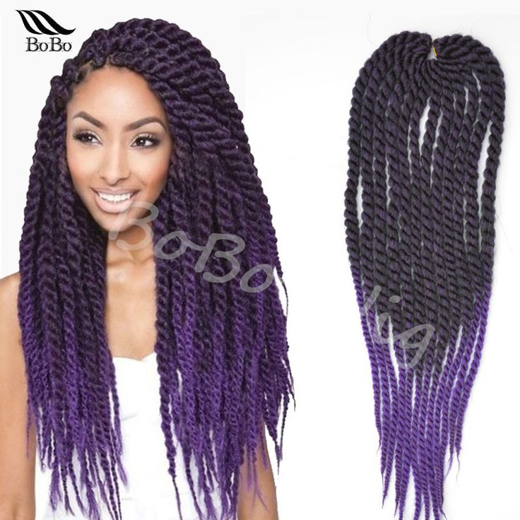 "Hot sale 22"" expression synthetic crochet braid hair havana mambo senegalese twist hair ombre jumbo crochet twist braiding hair(China (Mainland))"