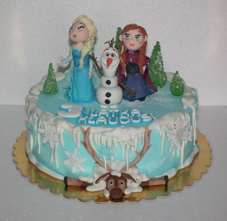 Tort Kraina lodu/ Frozen cake, Elsa, Anna cake