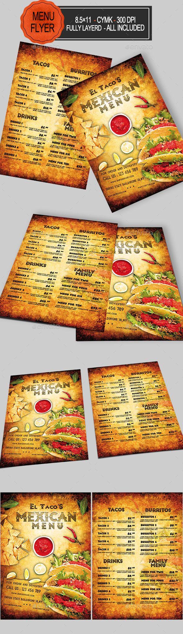 #Mexican #Food Menu - #Food Menus Print Templates