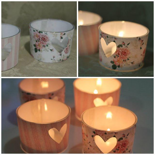 decoracao porta velas papel scrapbook revista jornal  decorado casa jantar romantico (7)