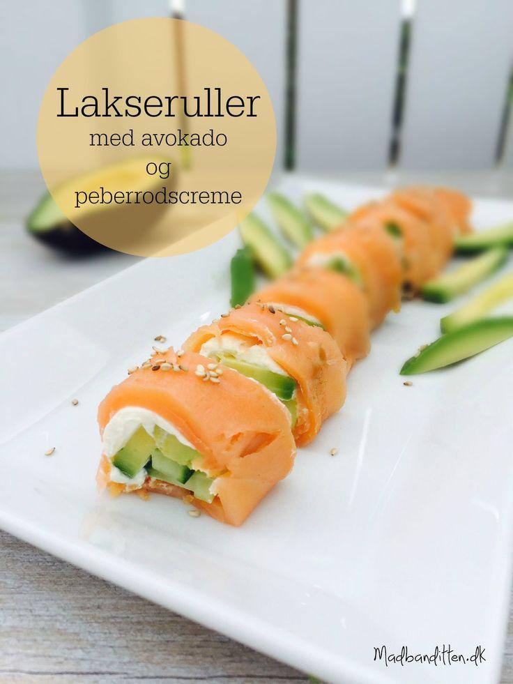 Sushi uden kulhydrater - lakseruller med flødeost og avokado