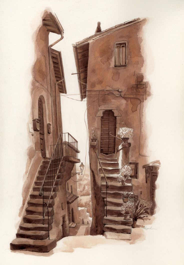 Twin Stairwells of Vitorchiano Viterbo, Italy FredLynch.com