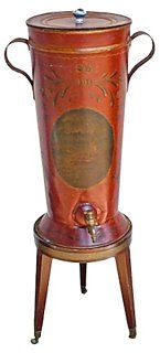 Antique Tole  Wine Dispenser
