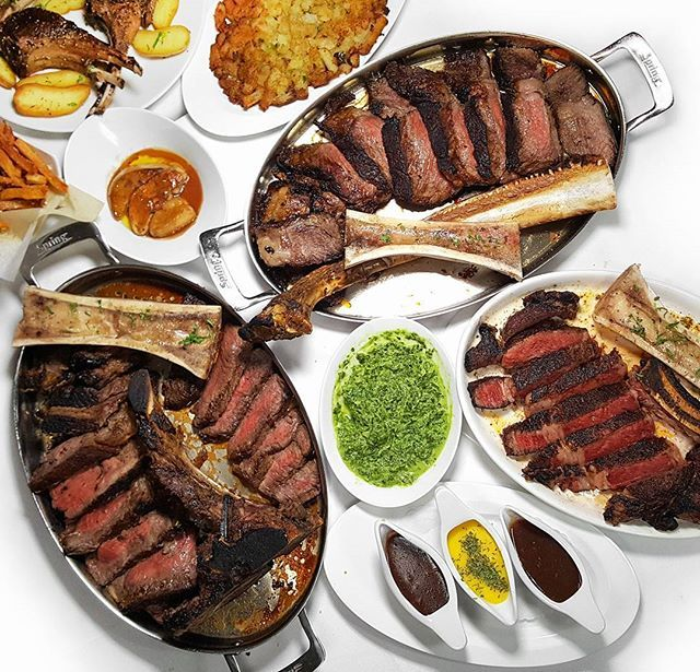 WEBSTA @ johnnyprimecc - This is what it looks like when the steak crew goes out for a bite. Psychotic spread from @greenwichsteakhouse .#steak #steaknight #mediumrare #steakporn #beef #beefitswhatsfordinner #carnivore #carne #cooking #porterhouse #tomahawk #ribeye #marrow #steakhouse #bonemarrow .#hypefeast #foodilysm #foodiefeature #tryitordiet #newforkcity #nycfat #instafood #eatguide #foodpornography #tastingtable #nyceats #eatingnyc #lifestyleblogger #flatlayfood #flatlay .Photo by…