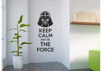 Naklejka na ścianę Star Wars Keep Calm.
