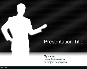 Free Black Background with moderator for presentations