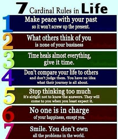 Motivational Quote. The 7 Cardinal Rules in Life. Quotes @ rickysturn