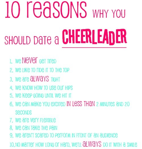 10 reasons to date a cheerleader