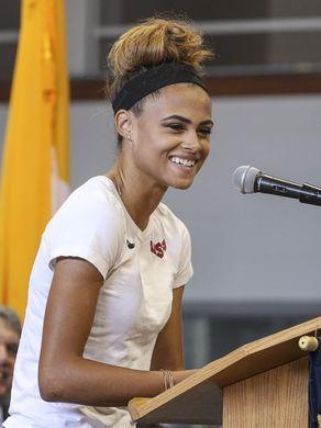 Union Catholic celebrates Olympian Sydney McLaughlin
