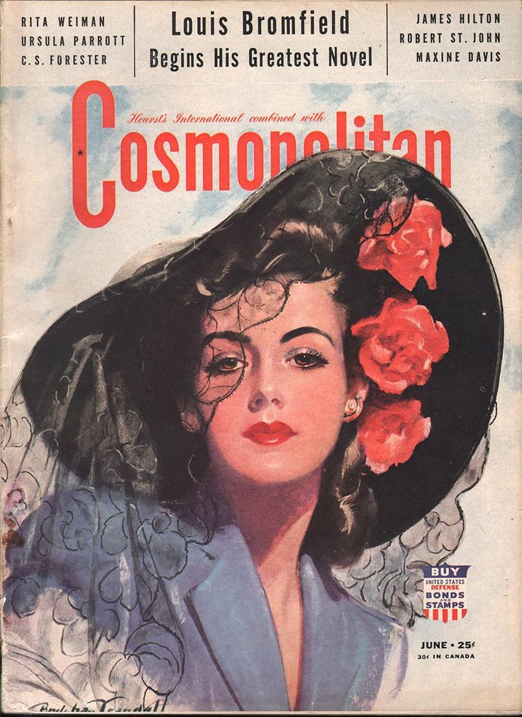 "Cosmopolitan magazine, JUNE 1942 Artist: ""South American Beauty"" Bradshaw Crandell"