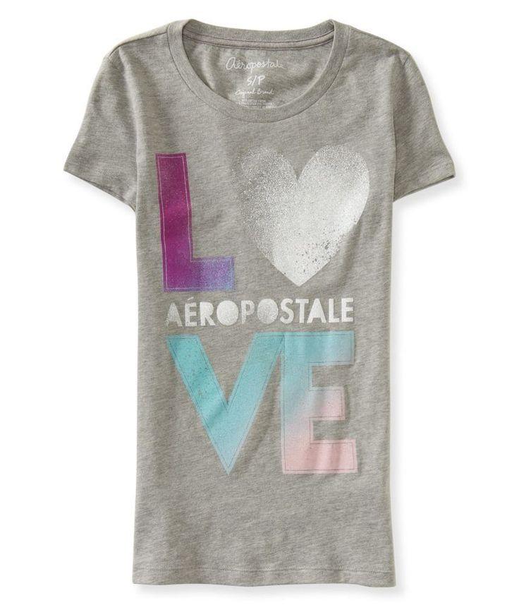 Camiseta Aeropostale Feminina AERO LOVE - Cinza - Figo Verde: Roupas importadas originais
