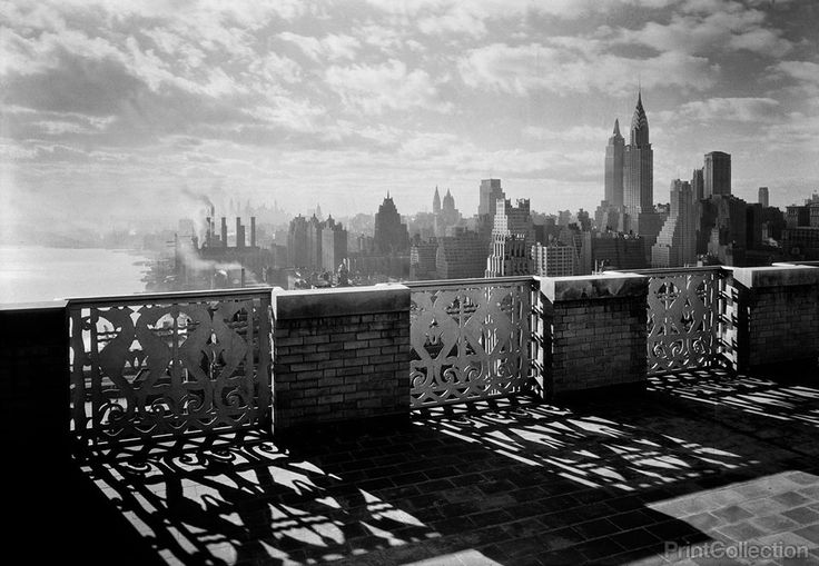 River House, 52nd Street and East River. Parapet, 27th floor Photo: Samuel H. Gottscho, New York. December 15, 1931
