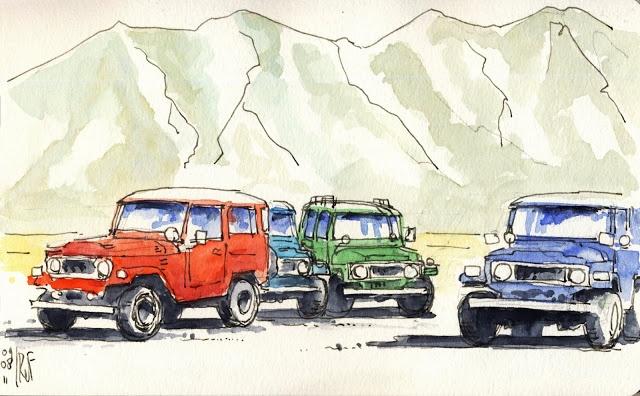 Looks like a daily scene in Bromo :) rene fijten sketches