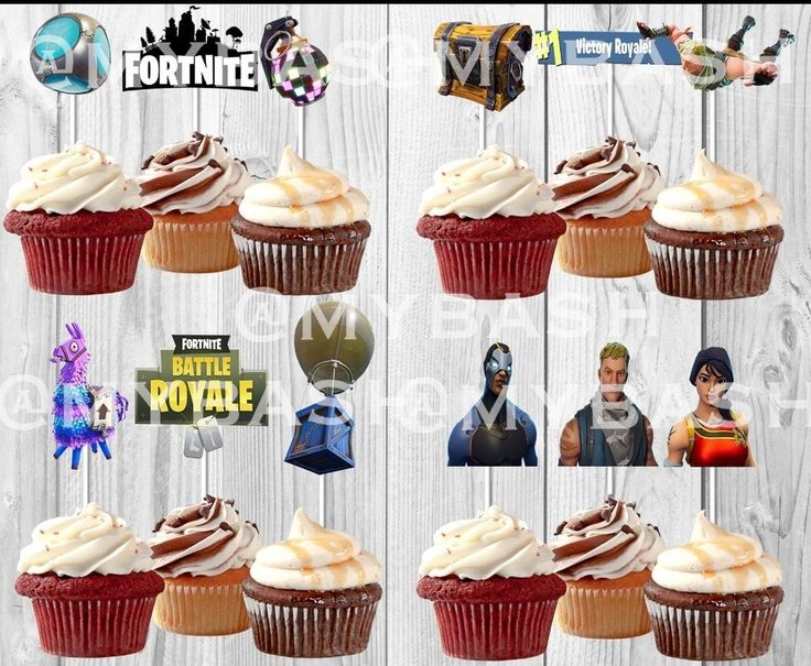 Inspired Fortnite Cupcake Toppers Birthday Game Day