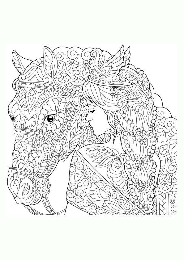 Dibujo Para Colorear Mandala De Una Ilustración De La