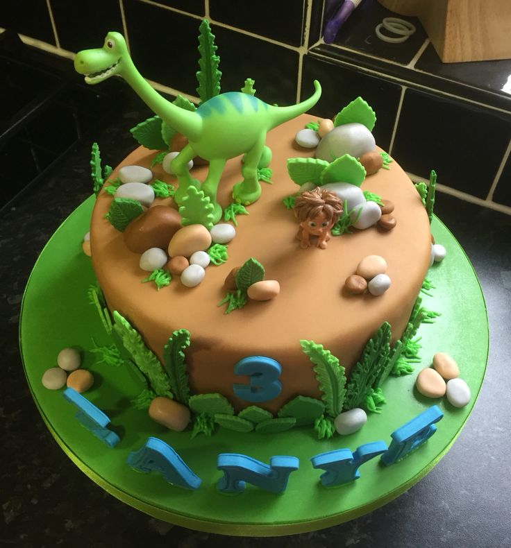 The Good Dinosaur Birthday Cake Bizcochos Pinterest Dinosaur
