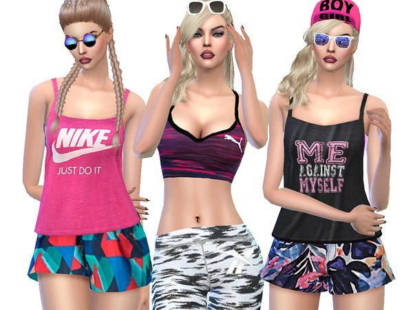 Sport Set 02 by Pinkzombiecupcakes at TSR via Sims 4 Updates