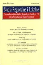 Wydawnictwo Naukowe Scholar :: :: 2003 STUDIA REGIONALNE I LOKALNE nr 3(13)