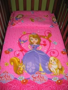 NEW Pink Princess Sofia THE First COT Fitted Sheet Pillowcase | eBay