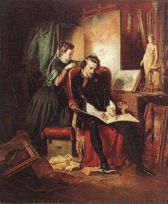 Borsos József Krízis egy festő életében 1854