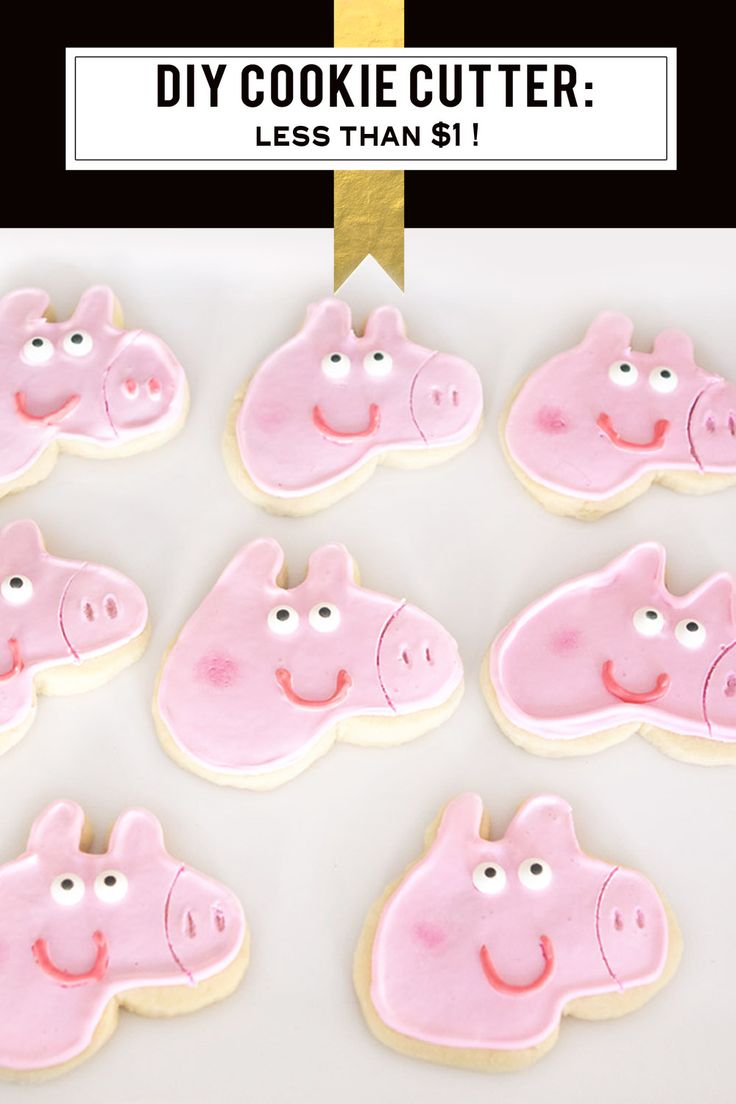 Make Your Own Custom Cookie Cutter for less than $1