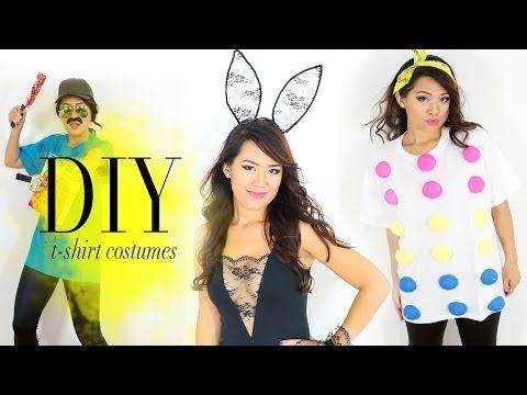 ▶ DIY T-shirts into Halloween Costumes {Easy} - YouTube