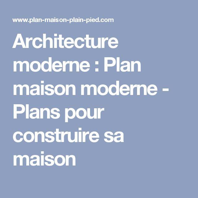 26 best plan maison images on Pinterest House design, Floor plans