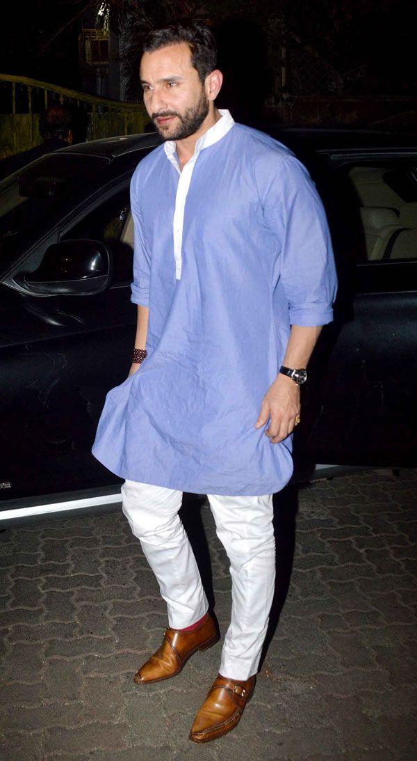 Saif Ali Khan at Dino Morea's bash. #Bollywood #Fashion #Style #Handsome