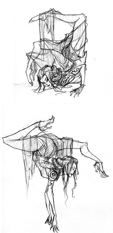 """It's the lovely contortionist Tsukiko, from Erin Morgenstern's """"Night Circus"""" by Abigail Larson"""