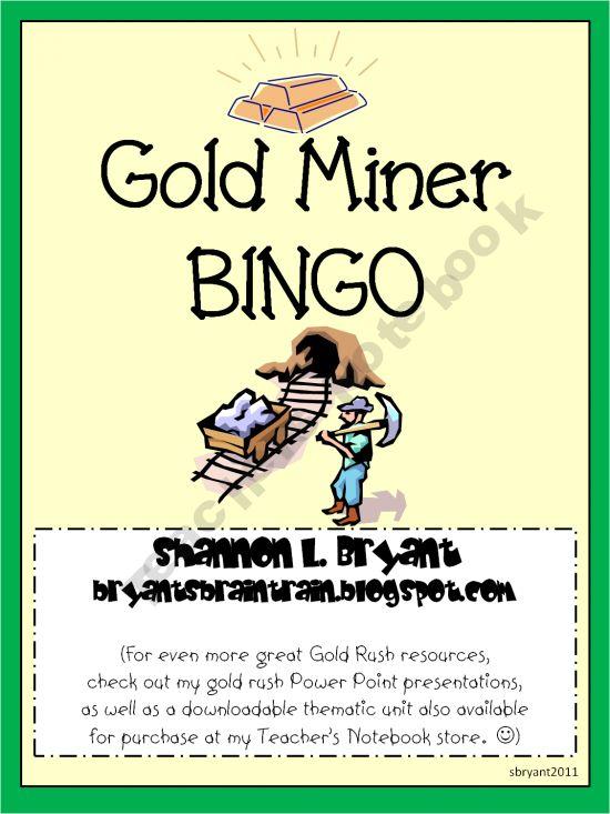 Gold Rush BINGO Game