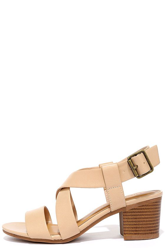 Adored by All Beige Heeled Sandals at Lulus.com!