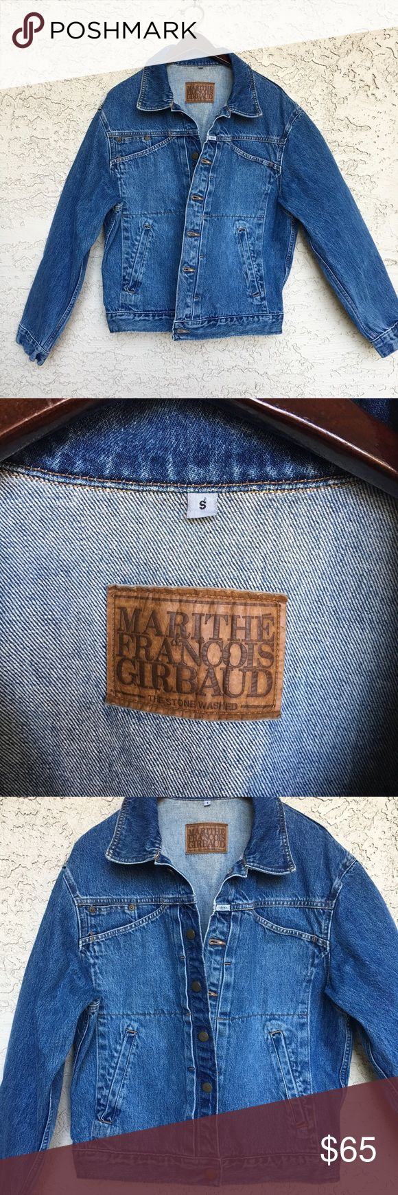 Marithe Francois Girbaud Denim Jacket In excellent used condition.  No stains or rips.  Perfect to pair with a hoodie or wear alone. Marithe Francois Girbaud Jackets & Coats