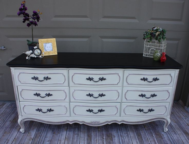 #Thomasville French Provincial 9-drawer #Dresser painted ...