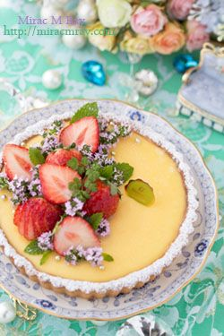 Strawberry Lemon Cream Tart 苺レモンクリームタルト                              …
