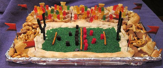 Behold… the snackadium! | 11 Ways To Kick Off Your Kickoff Party