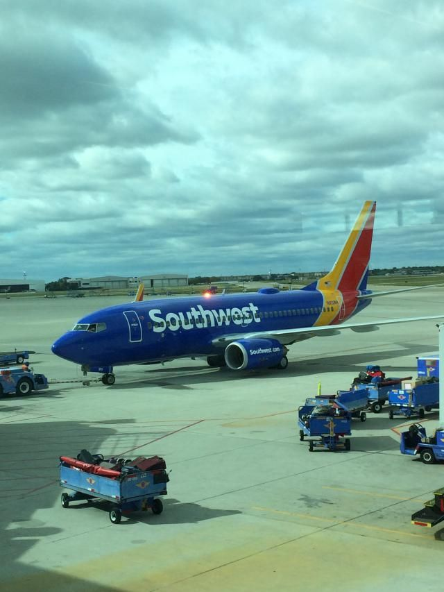 A Southwest Airlines Boeing 737 at Dallas Love Field.