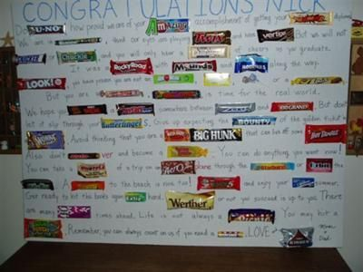 Graduation candy card