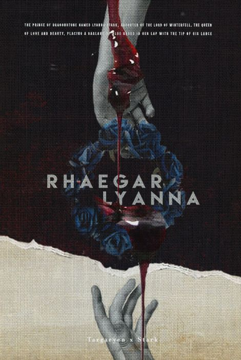 "(1/6) tsaritsacatherine: asoiaf   - Rhaegar Targaryen & Lyanna Stark  ""for with that simple garland of pale blue roses, Rhaegar Targaryen had begun the dance that would rip the Seven Kingdoms apart, bring about his own death and thousands more, and put a welcome new king upon the Iron Throne. […] Prince Rhaegar loved his Lady Lyanna, and thousands died for it."""