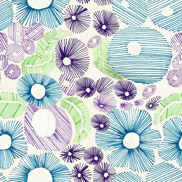 pattern with pen marker. Isabel Quiles