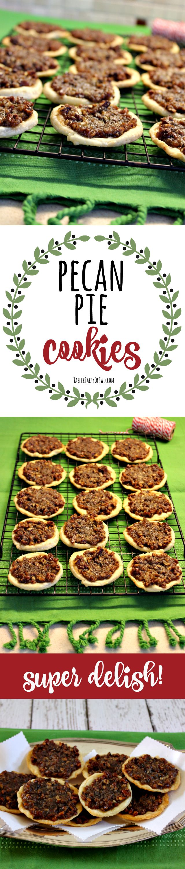Pecan Pie Cookies - so amazing! Like indulging in a mini pecan pie for one. TablerPartyofTwo.com