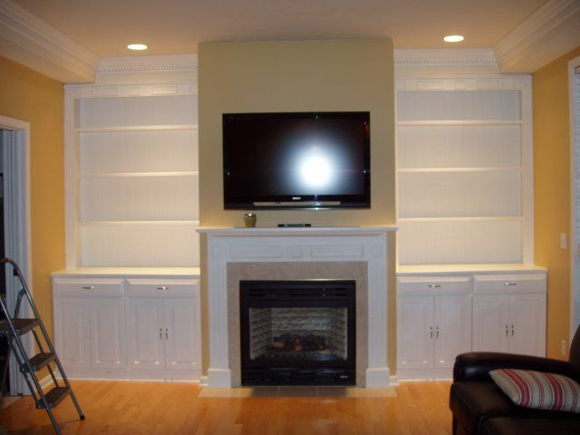Cabinets Around Fireplace Built In Cabinets Flanking
