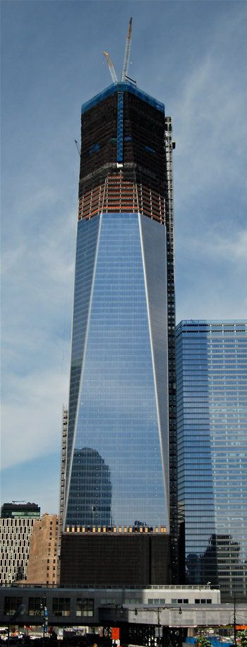 1 World Trade Center, officially the tallest building in NYC again.