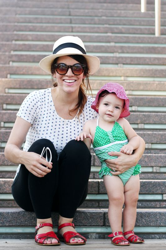 Mother Daughter Red Saltwater Sandals Mommy Style