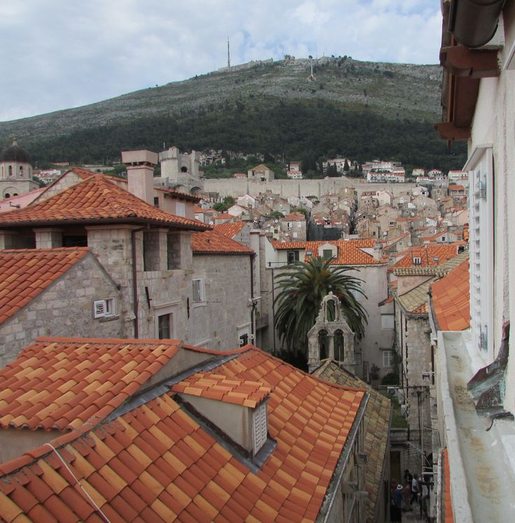 Roof tops Dubrovnik walled city