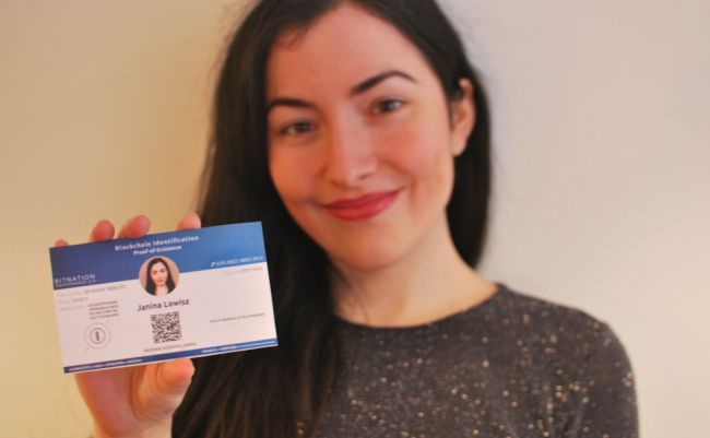 The first holder of a blockhain-id