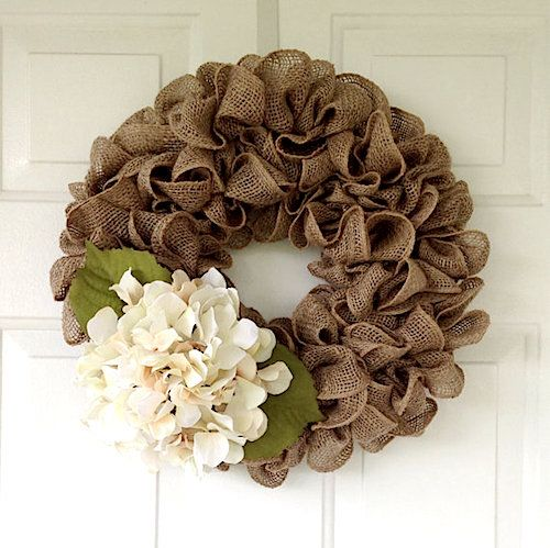 25 best ideas about burlap wreaths on pinterest burlap Making wreaths