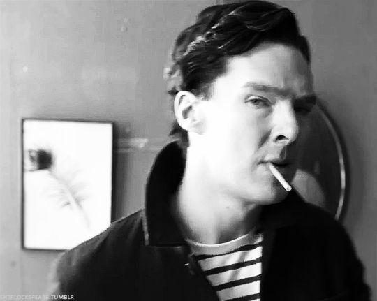 "sobeautifullyobsessed: "" sherlockspeare: "" He's seducing us (X) "" It's working. """