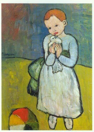 """""""L'enfant à la Colombe"""" de Picasso"""