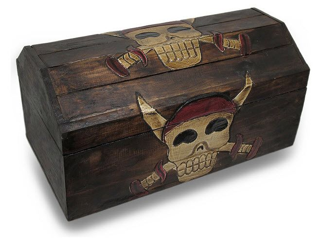 53.99 http://www.houzz.com/photos/20364981/Wooden-Pirate-Skull-Crossed-Daggers-Wooden-Treasure-Chest-Storage-Box-traditional-kids-jewelry-boxes